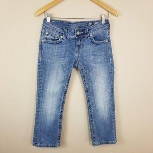 Miss Me Size Capri Jeans Flap Pockets